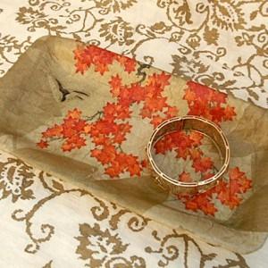 Decoupage foam jewelry tray