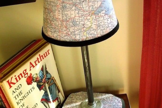 Vintage modern map lamp