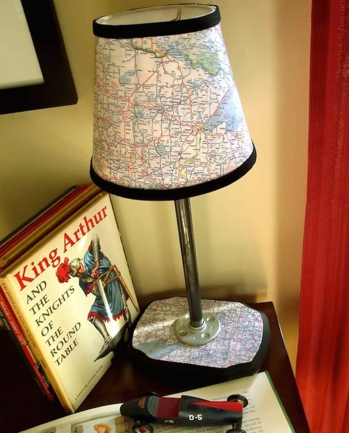 Build a Vintage Map Lamp from Scratch