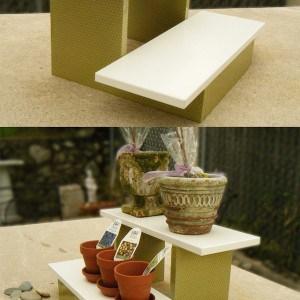 DIY mini plant stand