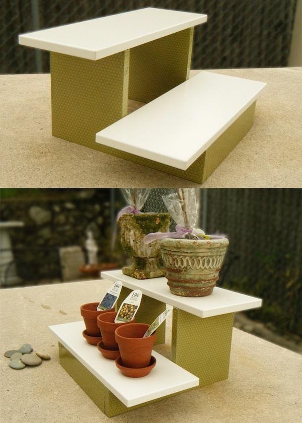 Mini DIY plant stand with Mod Podge