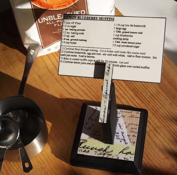 DIY Recipe Holder Looks Great in Your Kitchen