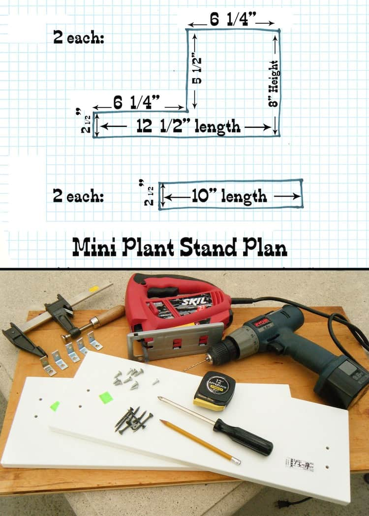 Mini Plant Stand Diagram
