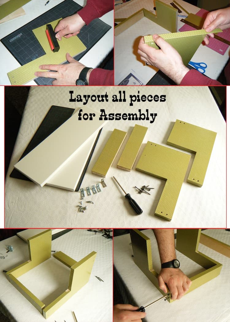 Layout all pieces for assembly