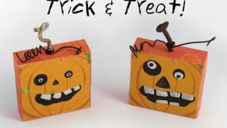 DIY Halloween Magnets Shaped Like Pumpkins!