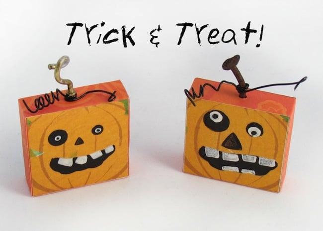DIY Halloween Magnets Shaped Like Pumpkins!