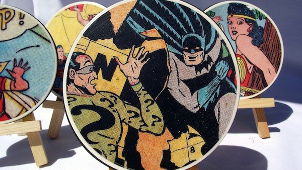 DIY comic book coasters