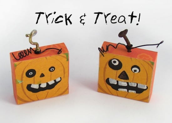 Fun DIY Halloween pumpkin magnets