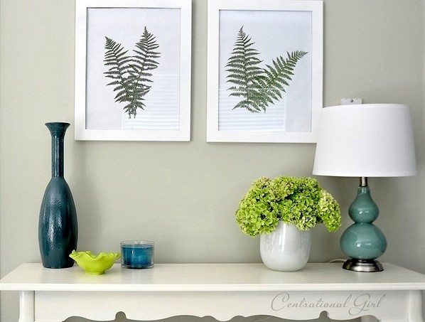 Make fern wall art with Mod Podge