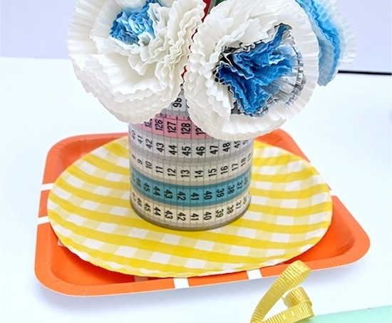 Mod Podge cupcake liner teacher bouquet