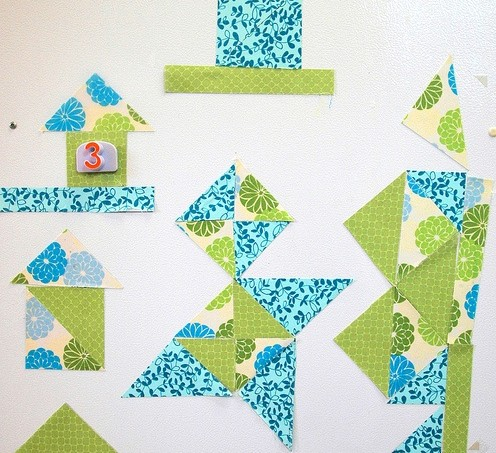 Mod Podge quilting magnets