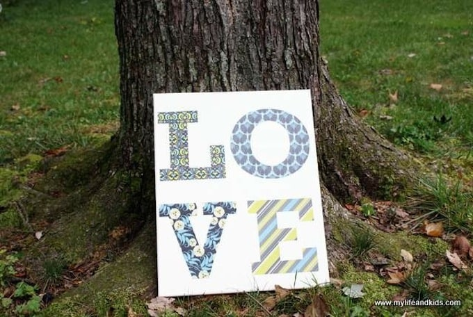 Pottery Barn knock-off LOVE canvas