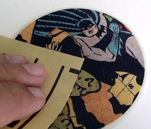 Sanding the top of the book coasters