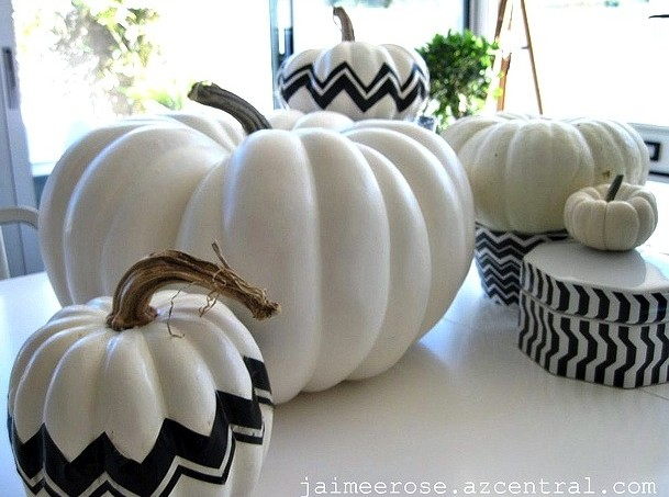 DIY Missoni pumpkins