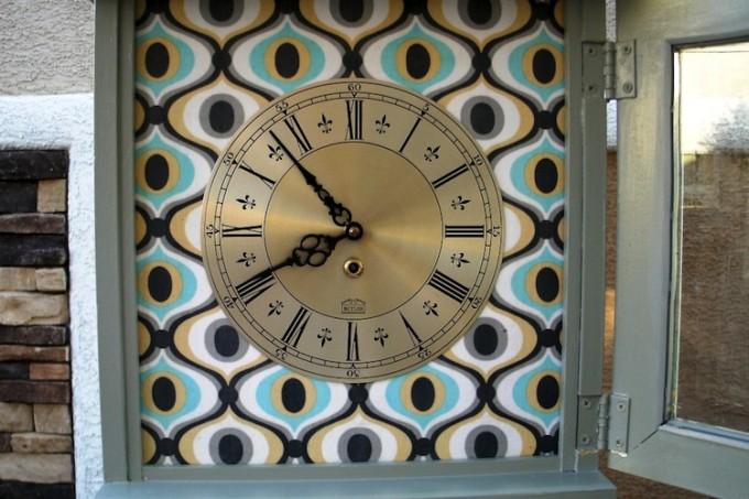 Mod Podge grandfather clock