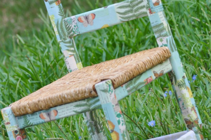Mod Podge kids chair