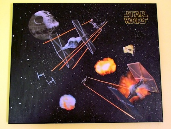 Star Wars Mod Podge canvas