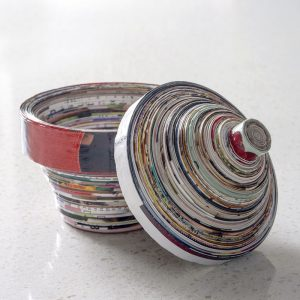 Bowl Made from Magazine Pages