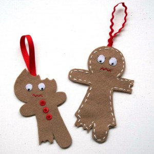 DIY bitten cookie ornaments
