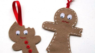 The Cutest Half Eaten Gingerbread Ornaments