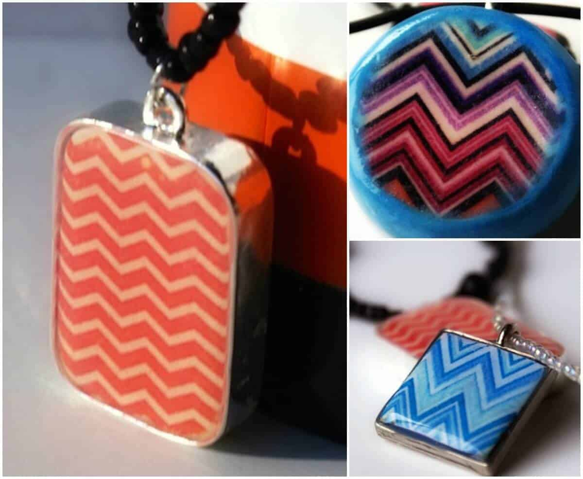 DIY clay necklace using a photo transfer
