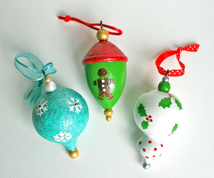 Martha Stewart painted Christmas ornaments