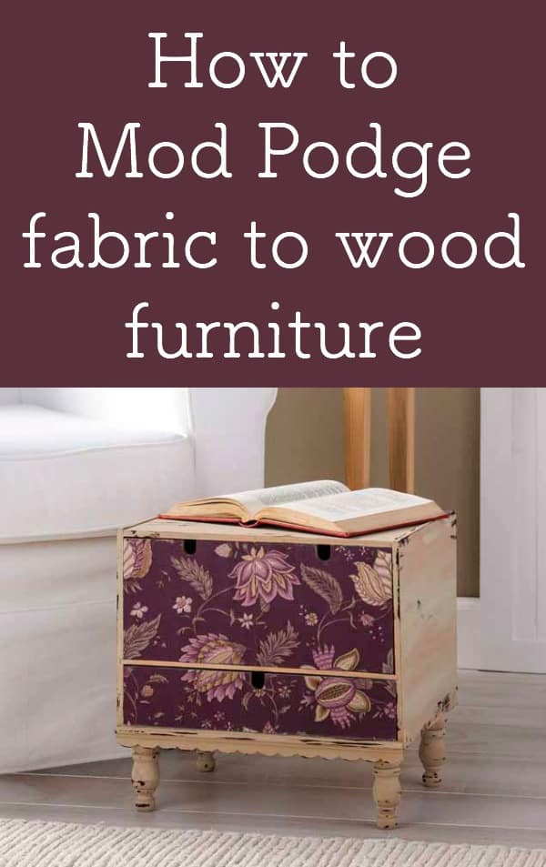How to Mod Podge Fabric to Wood Furniture , Mod Podge Rocks