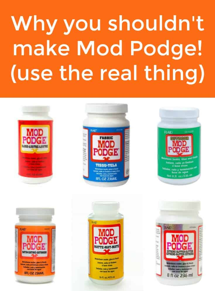There are a lot of recipes on the internet for how to make Mod Podge - here are all of the good reasons NOT to do it yourself.