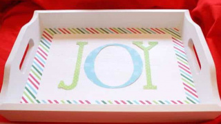 Joyful Mod Podge Holiday Tray