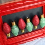 Glitter Christmas light magnets