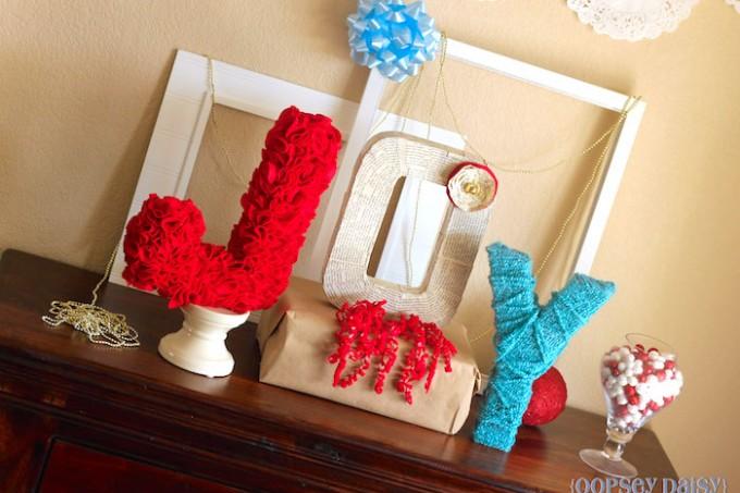 JOY DIY holiday display