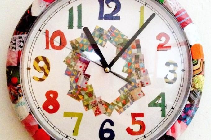 Mod Podged clock