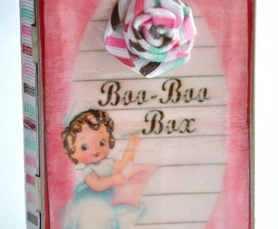 DIY Mod Podge boo boo box tutorial