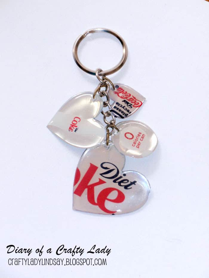 This DIY keychain is so unique - it's made from a soda can! You can make your own version using your favorite soda and Dimensional Magic.