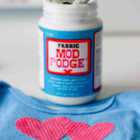 DIY Onesies Made with Fabric Mod Podge