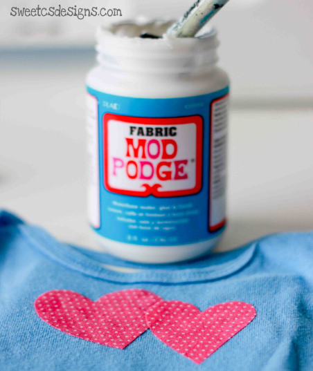Personalized onesies with Fabric Mod Podge