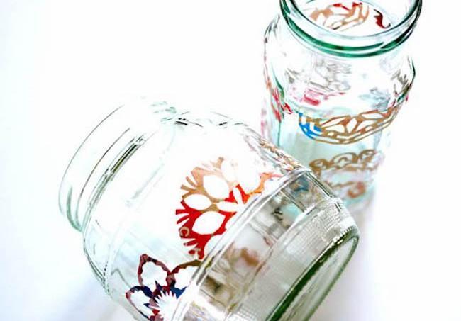 junkmail snowflake jar lanterns