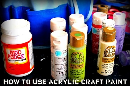 I love using craft paint - it's one of my top crafting supplies. In this article I share my 8 favorite tips for how to use acrylic paint.