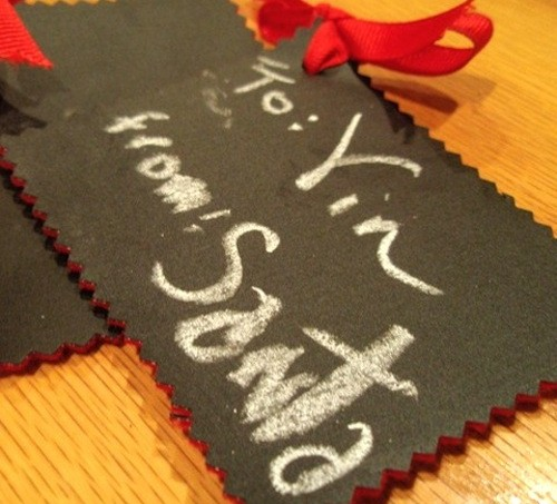 Mod Podge cloth gift tags