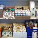 Mod Podge craft space organizing
