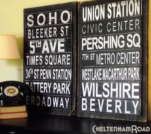 You don't need a fancy die cutter to make subway art! David will show you how to get this distressed subway art using your computer and Mod Podge.
