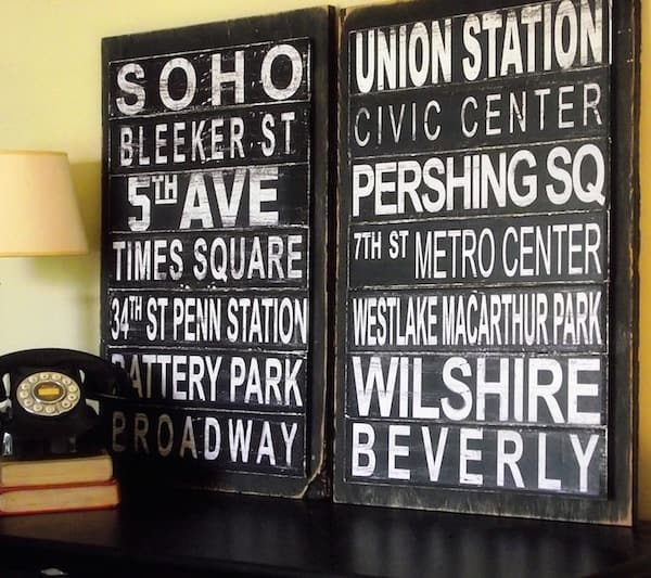 Make Subway Art (No Die Cutter Required!)