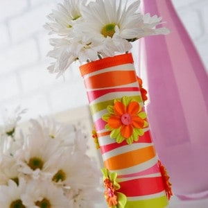 DIY vase from the dollar store
