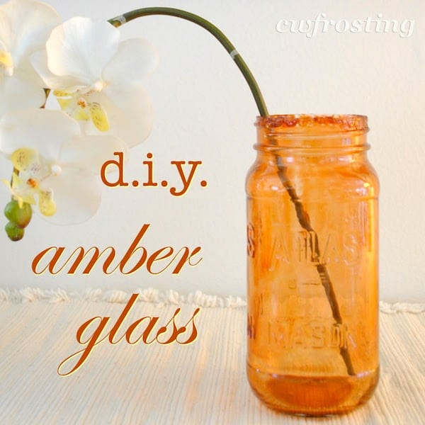 Use food coloring and Mod Podge to tint any glass the color you want - this tutorial on how to make amber glass is amazing!