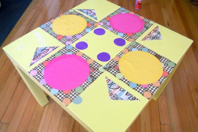 DIY tea party table made with Mod Podge