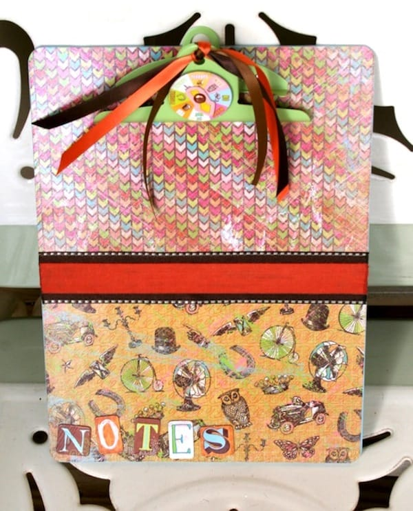 This DIY clipboard is so easy! This tutorial will show you how it's done with Mod Podge - and it makes a great teacher's gift.