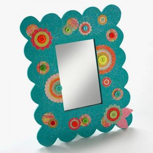 Dollar store craft: diva mirror