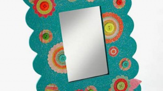 How to Mod Podge a Dollar Store Mirror