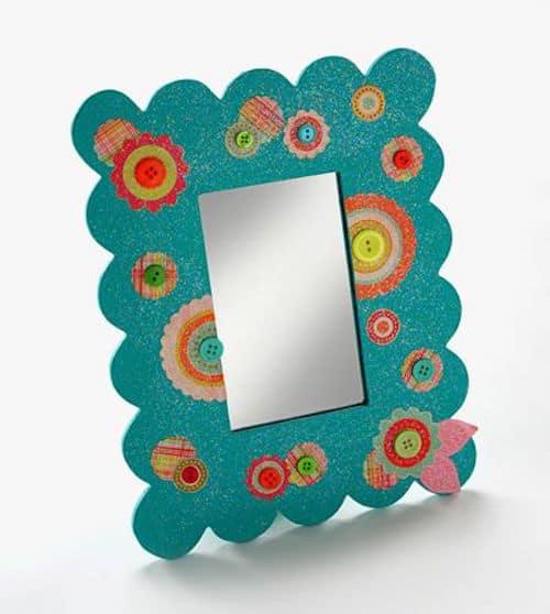 Dollar Store Craft Diva Mirror Mod Podge Rocks