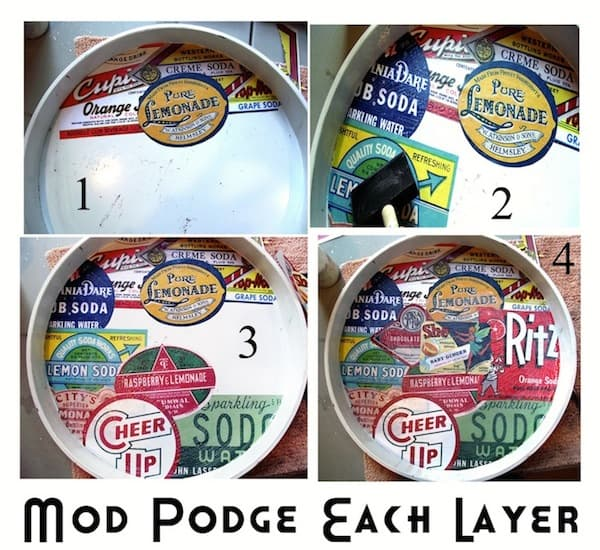 Mod Podge Each Layer